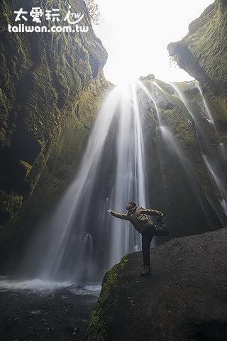Gljúfrafoss瀑布
