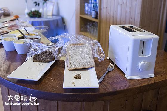 維特賽庫爾酒店早餐麵包及果醬