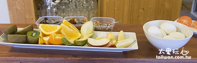 維特賽庫爾酒店早餐水果及水煮蛋