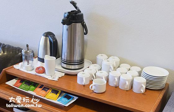維特賽庫爾酒店早餐茶與咖啡