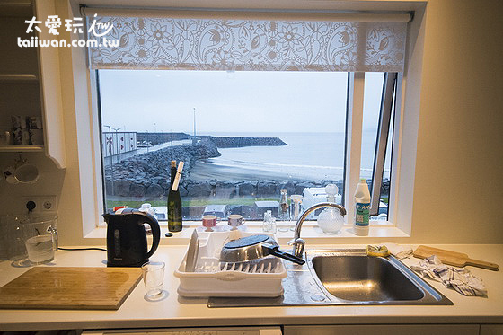 維德哈菲德旅館廚房有很棒的海景