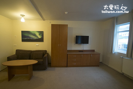 雙人豪華公寓擺設簡單