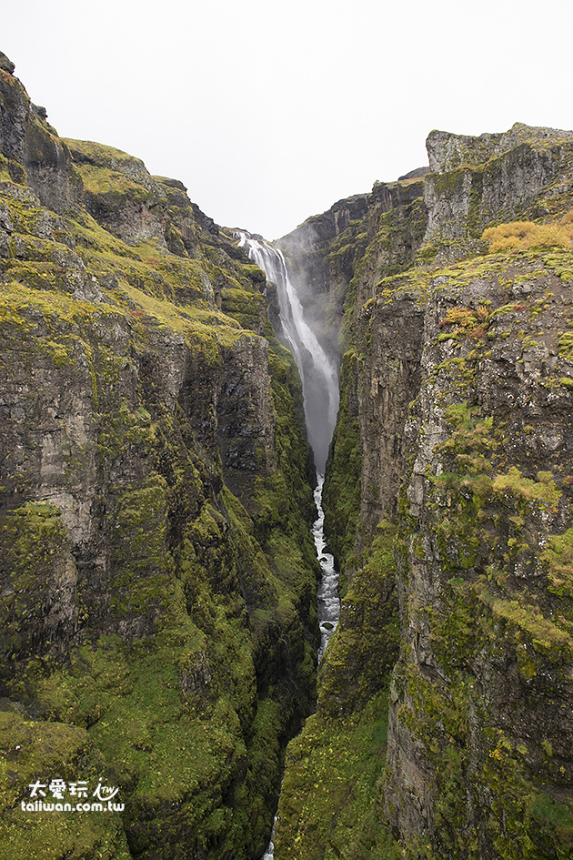 Glymur是我個人認為最美的一個瀑布