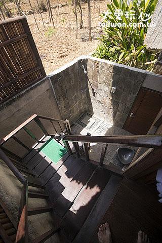 高級小屋Superior Hut露天浴室