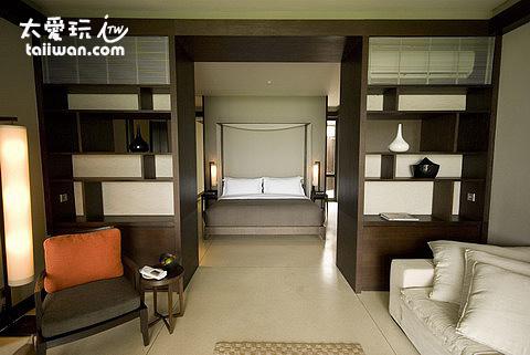房間內部簡潔高雅