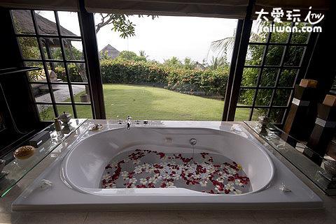 懸崖單房海景別墅浴缸