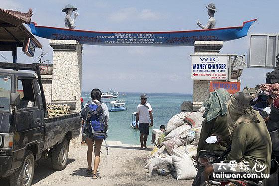 蓝梦岛Jungut Batu码头