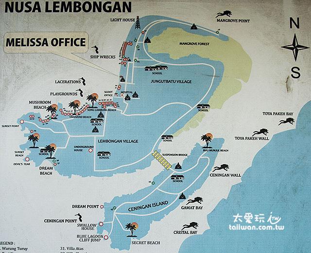 藍夢島玩樂景點地圖