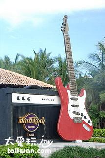 硬石飯店 (Hard Rock Hotel)入口醒目的招牌