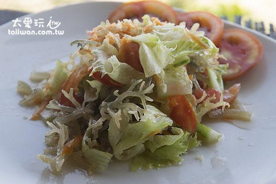 涼拌海藻Seaweed Salad清爽好吃