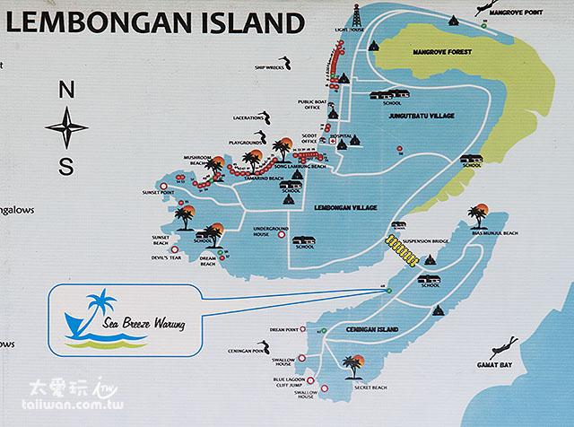 蓝梦岛由一大一小的岛屿所组成