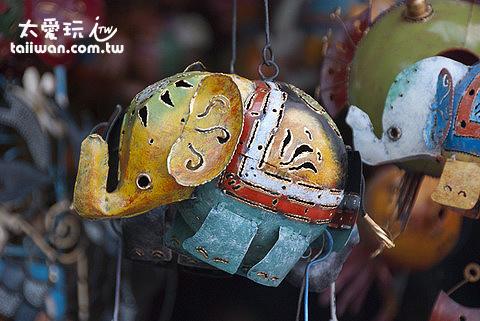 烏布市場大象藝術品