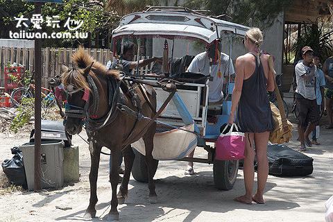 島上不可或缺的交通工具-馬車
