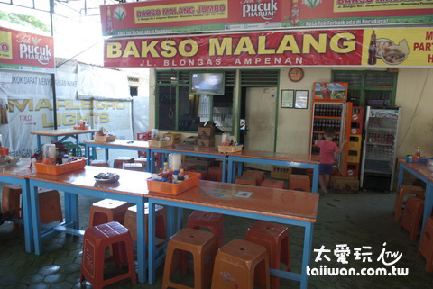 Bakso Malang Jumbo 餐廳內部