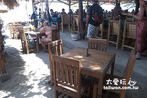 Gili Air餐廳吃午餐