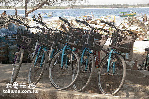 吉利各島都有租單車服務