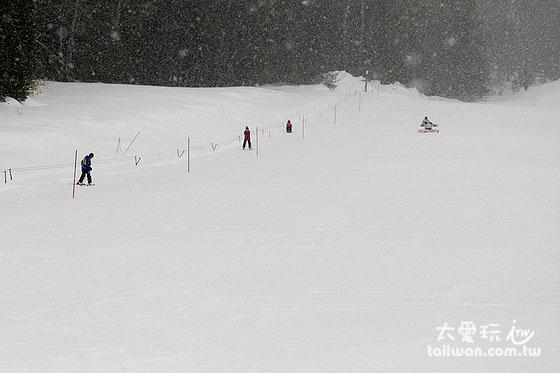 國立阿寒湖畔滑雪場的練習場