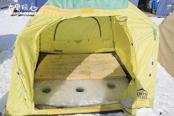 冰上釣魚租用3人帳7500日圓