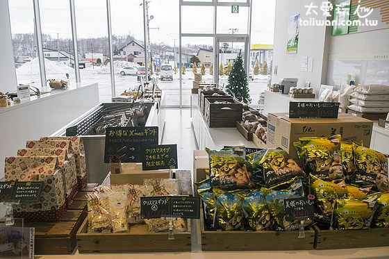 選果市場展售當季的美瑛農產品
