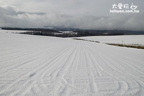 冬天开车在寻找景点的路上很多雪景都很美
