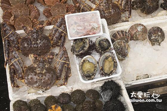 各種新鮮的生猛海鮮