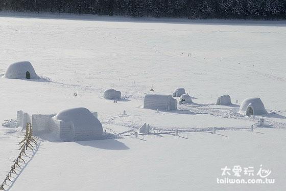 然别湖冰上村