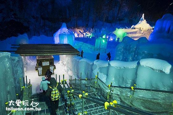 層雲峽冰瀑祭入口售票處