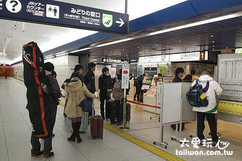 新千岁机场地下1楼JR车站