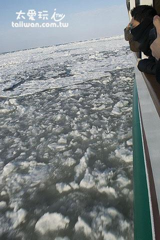 流冰就在眼前