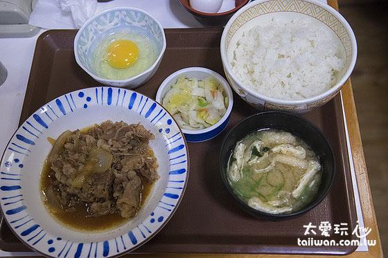 すき家牛丼套餐