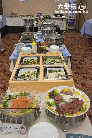 知床高级饭店自助式晚餐