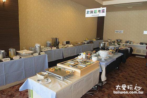 知床高级饭店早餐种类也很多