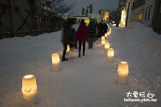 小樽雪燈祭期間觀光客爆多
