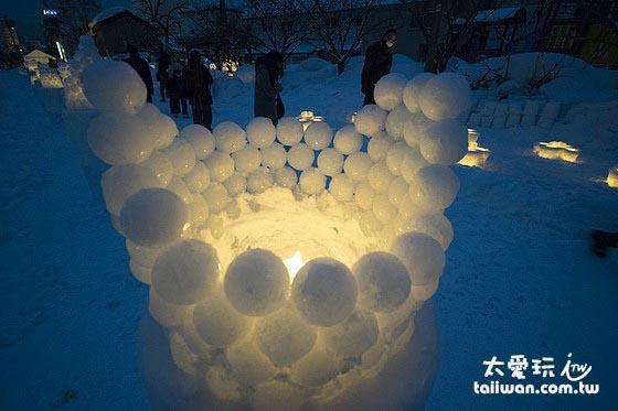 小樽雪燈祭的美麗雪燈