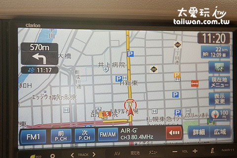 日本的GPS導航很好用