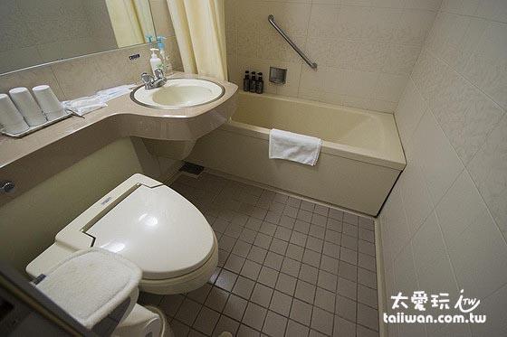 和洋室的浴室