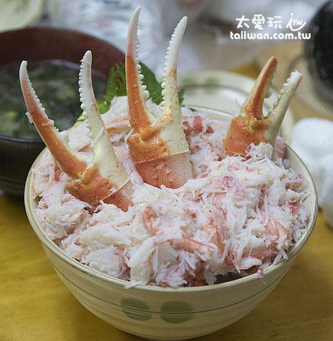 蟹肉蓋飯超滿足