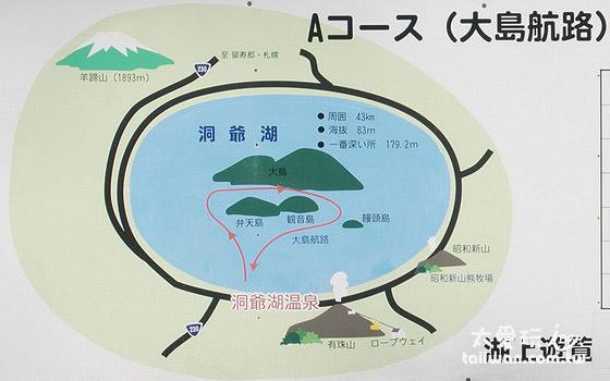 中岛观光游览船路线