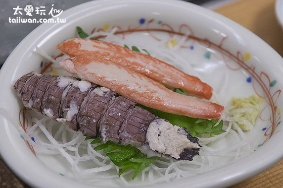 虾蛄与蟹脚刺身切盘