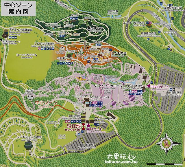 瀧野鈴蘭丘陵公園地圖