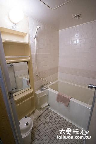 湯元白金溫泉旅館本館客室浴室