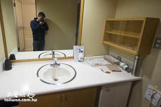 湯元白金溫泉旅館本館客室洗臉台