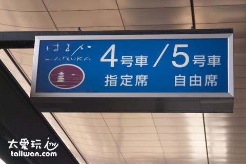 JR關西周遊券只能搭乘「HARUKA」特快火車普通車自由席