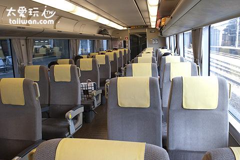 「HARUKA」特快火車寬敞的座位