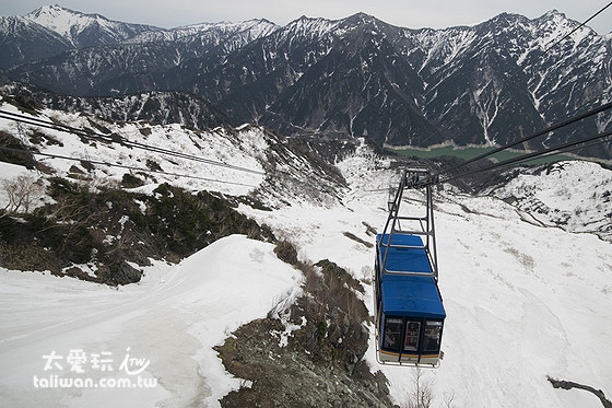 大觀峰站纜車景色