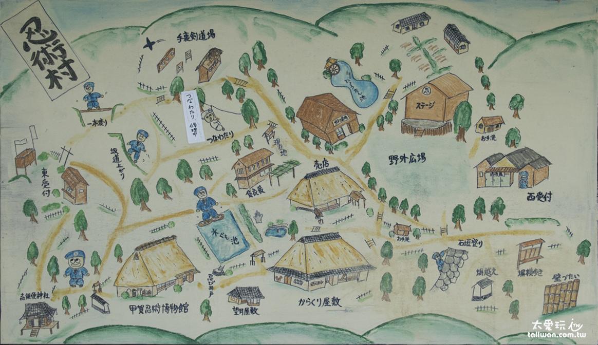 甲賀之里忍術村地圖(點我看大圖)