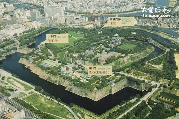 大阪城空照圖