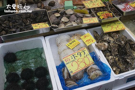 黑門市場各式海鮮