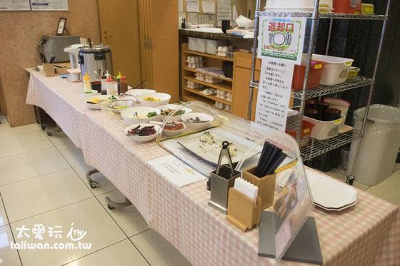 東橫旗下所有飯店的早餐都大同小異