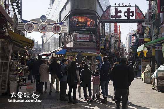 阿美横丁是上野的购物重镇